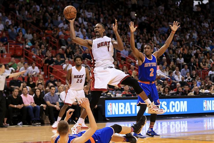 Chris Bosh New York Knicks v Miami Heat