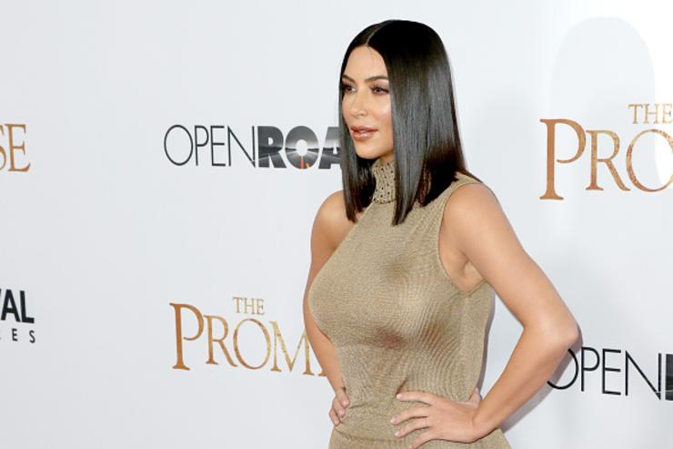 Kim K at Forbes 'The Promise' premiere