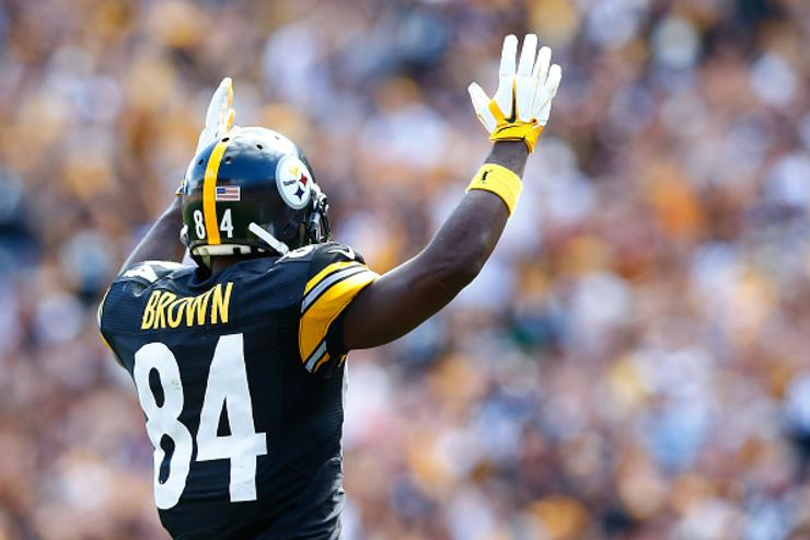 AB celebrates TD by DeAngelo Williams