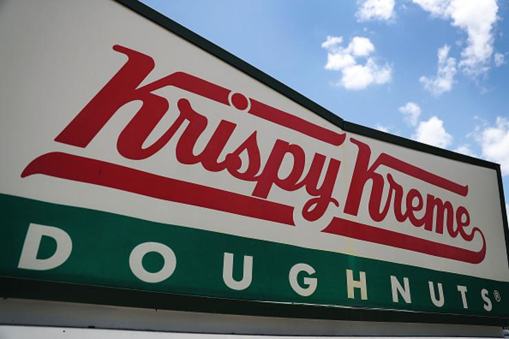 You can get a dozen Krispy Kreme doughnuts Friday for 80 cents