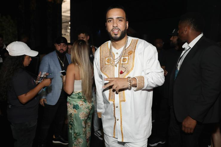 French Montana backstage at BET Awards